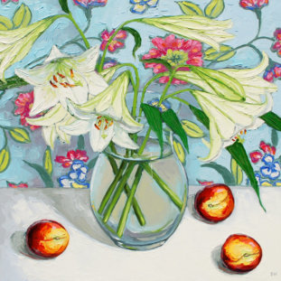 Lillies With Summer Peaches