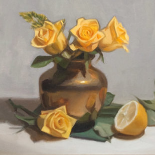 Yellow Roses And Lemon