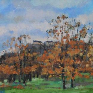 Autumn Colours Towards The Castle