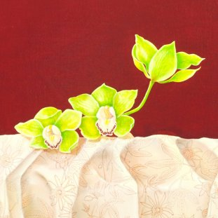 Green Cymbidium & Passion Flower