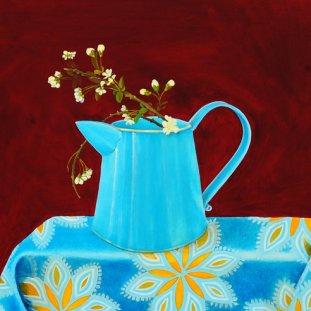 Blue Jug & Cherry Blossom