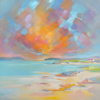 Title:   Barra Croft House  Artist: Donald MacLeod Medium:Oil & Acrylic on Canvas Size:  690 x 690 Price: £660
