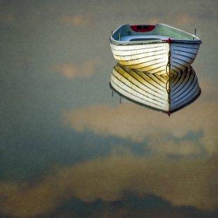 Loch Rusky Boat And Sky
