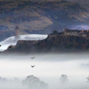 Stirling Castle Winter Mist