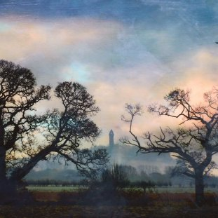 Wallace Monument From Lecropt, Colour