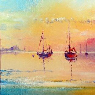 Sundown At Anchor