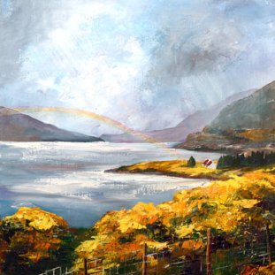 Title: Rainbow, Loch Broom