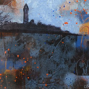 Wallace Monument At Dusk