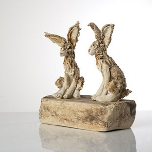 Pair Of Hares On A Box