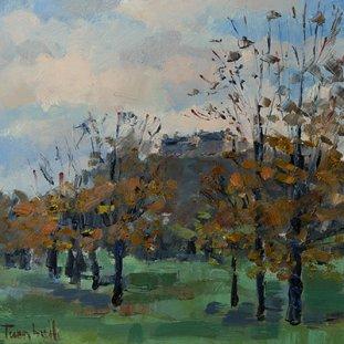 Autumn Trees Towards The Castle