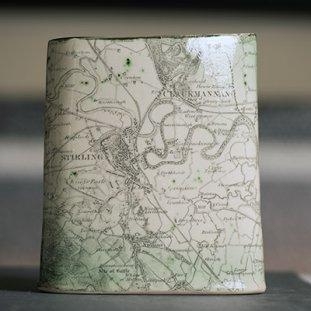 Old Map Of Stirling Vase